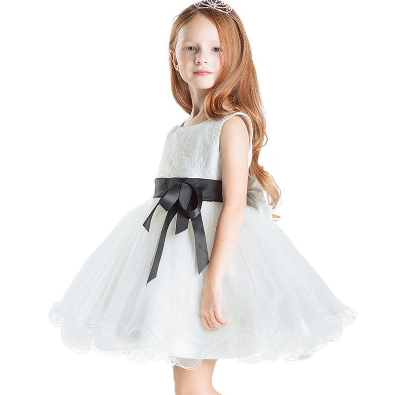 ФОТО Top quality girls party dress white princess lace 2017 summer formal dress for girl Baby design for kids teenage