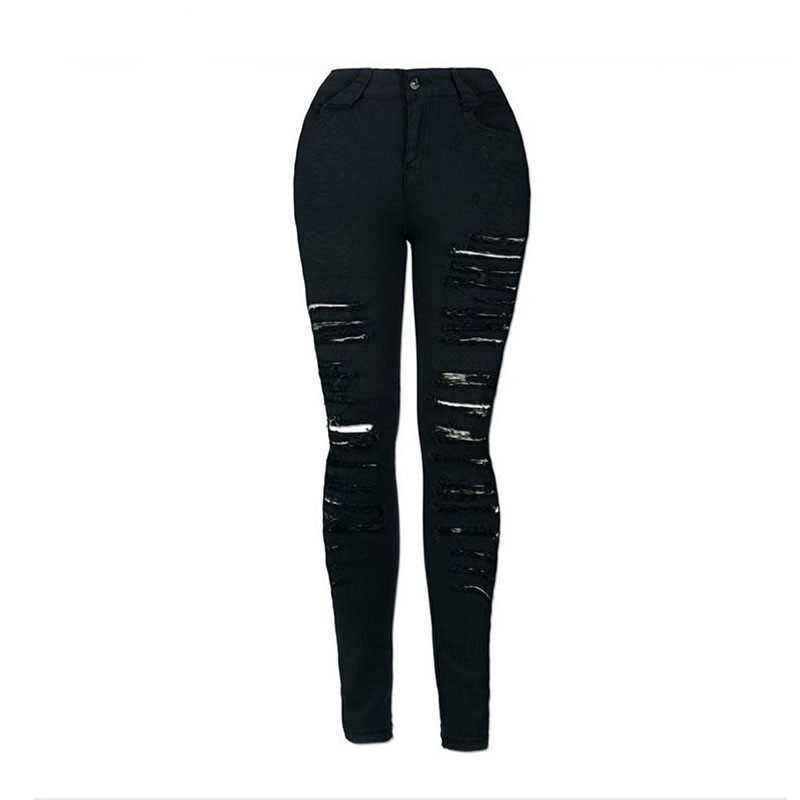 Ripped Jeans Women Clothes 2018 Ladies Black High Waist Push Up Distressed Jeans Mujer Skinny Trousers Female Denim Pencil Pants