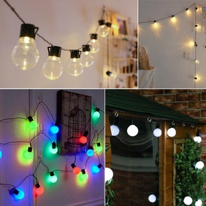 Image 5 - LED Garden Lawn lamp 2.5M 5M 220V 10/20 LED Globe Bulb String lights Outdoor Patio Yard Landscape Wedding Christmas Decoration