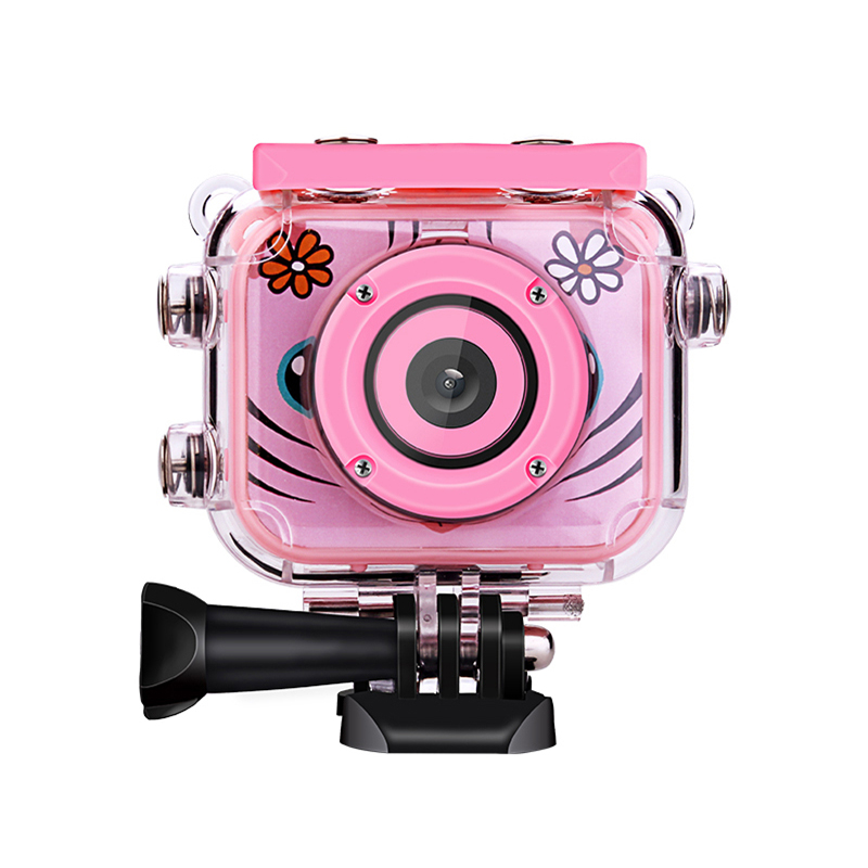 Kids Action Camera Go Waterproof Pro Children Mini Digital Camera For Boy Girl Birthday Gift Sport Camera for Skiing Swimming image