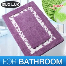 Microfiber&nylon Anti-slid Bathroom Mats Floral Bath Solid bathroom Floor mats Modern Carpet Rug tapis de bain 50*80cm TY-001