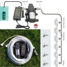 6 メートル〜 18 メートル庭の水ミストスプレーポンプと電源ネブライザー花植物温室ガーデン灌漑とミスト