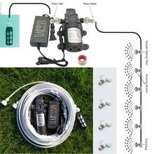 White 6 18 meters garden electric pump  misting spray system nebulizer for flowers plant greenhouse garden irrigation