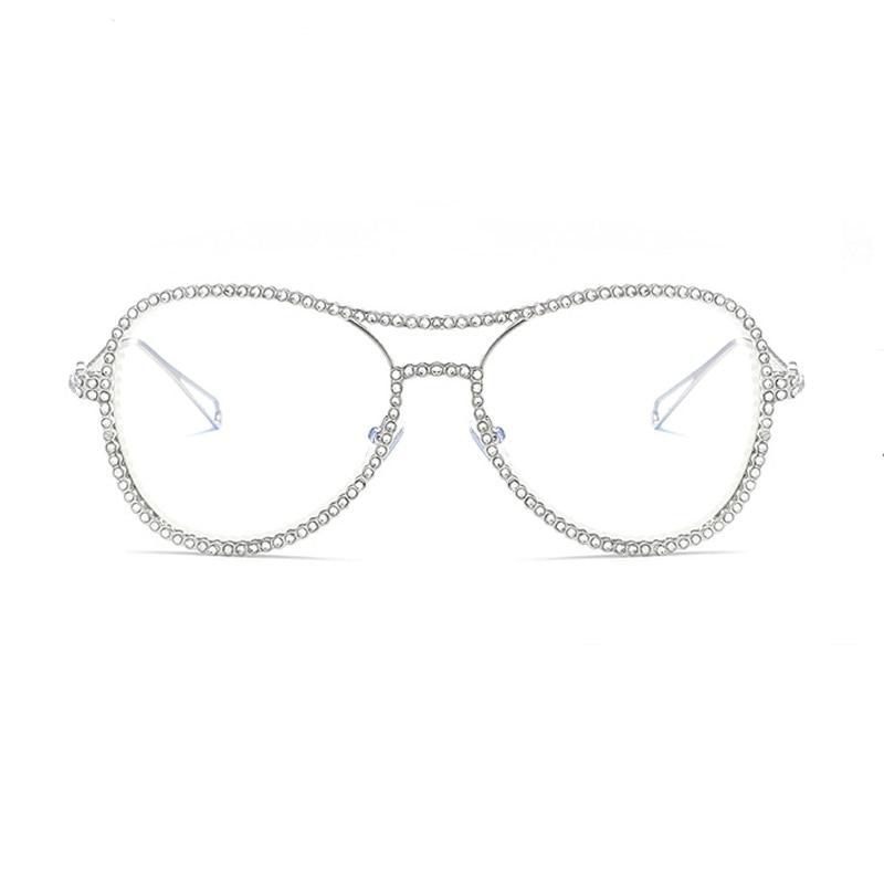 FA172 Men Women Glasses Frame Retro Round Spectacle Transparent Eyeglasses Frames Luxury Female Male Blue Film Eyewear