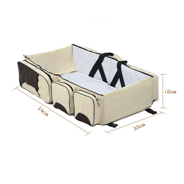 Multi-functional Portable Travel Bed For Baby – pink
