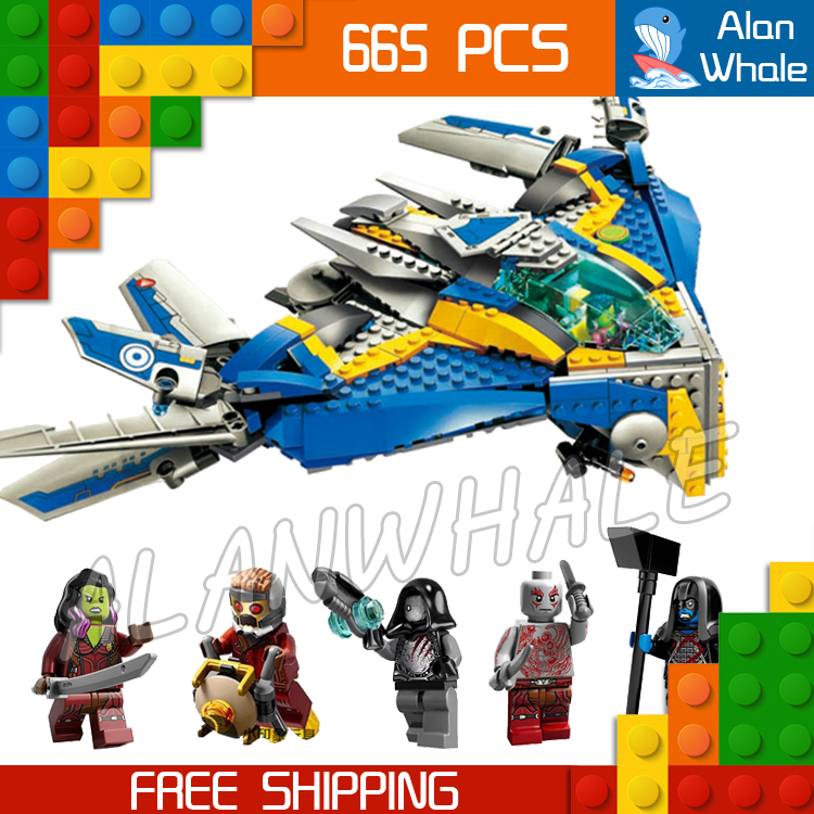 665pcs 2016 Bela 10251 Guardians Galaxy The Milano Spaceship Rescue Assemble Building Blocks Gamora Drax Compatible With Lego