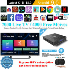 2019 T9 Android TV BOX z systemem Android 9.0 4GB 32GB 64GB Rockchip RK3318 H.265 4K USB 3.0 2.4G/5G WiFi Bluetooth 4.1 Smart TV box Media(China)