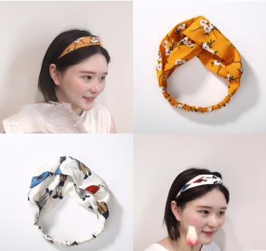 Women 39 s Fashion plaid print Headband Elastic Hairband Head Hair Accessories for Girls Striped Headwear Accessories in Women 39 s Hair Accessories from Apparel Accessories