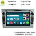 HD 1024X600 Núcleo Octa 8 6.0.1 Android Coches Reproductor de DVD Para Opel Corsa Vivaro Tigra Meriva Signum Vectra Cd Radio GPS navegación