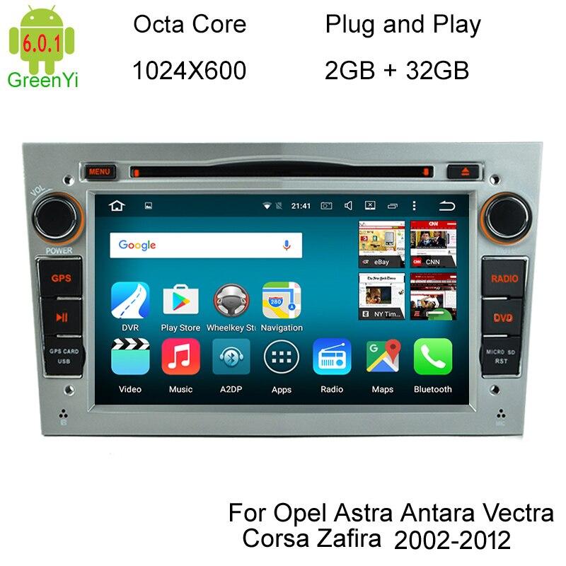 imágenes para HD 1024X600 Núcleo Octa 8 6.0.1 Android Coches Reproductor de DVD Para Opel Corsa Vivaro Tigra Meriva Signum Vectra Cd Radio GPS navegación