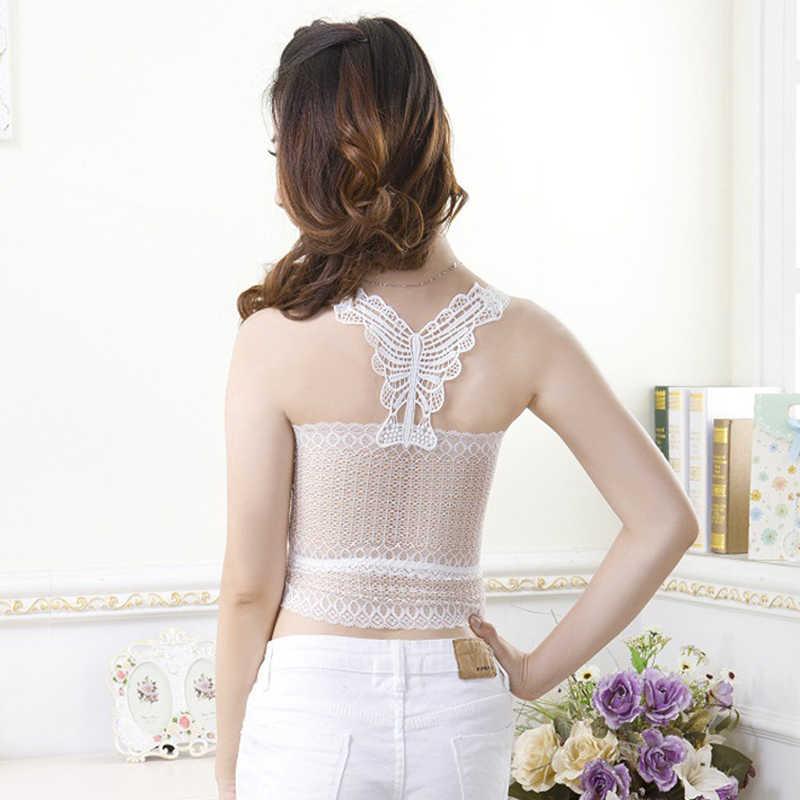 eea5ce006c ... Summer Women Tops Bralette Bralet Bra Lace Vest beach backless Halter  Crochet Unpadded Bustier Crop Top