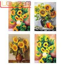 Flower Arrangement Full Diamond Square / Round Embroidery Sun 5D Diy Sketch Mosaic Decorat
