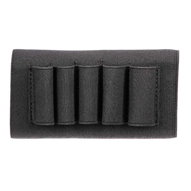 Airsoft Rifle Hunting Tactical Pouches 5 Butt cartridges Stock Shell Holder Elastic Fabric Carrier New scope mounts&accessories