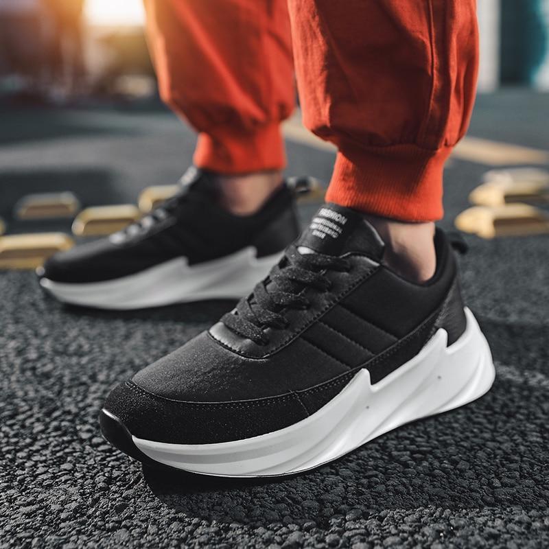 Image 5 - Дизайнерские кроссовки с акулой; мужская повседневная обувь из сетчатого материала; мужские кроссовки; Мужская обувь; Мужская прогулочная обувь; цвет черный, серый; кроссовки-in Мужская повседневная обувь from Обувь