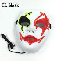 Toptan 10 adet Ses Aktif Kızdırma Moda Için Shuffle Dans maskesi masquerade Plastik Parti prop cadılar bayramı Dekorasyon Malzemeleri