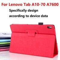 Case para lenovo a7600 tablet tampa funda capa de luxo, flip pu capa de couro inteligente tampa traseira para lenovo tab a10-70fa7600 10.1 case