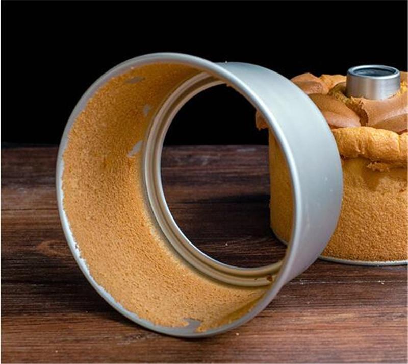 6inch 8inch Aluminum Alloy Round Chiffon Cake Pan Removable Bottom Hollow Chimney Cake Mold DIY Baking Cake Tools5
