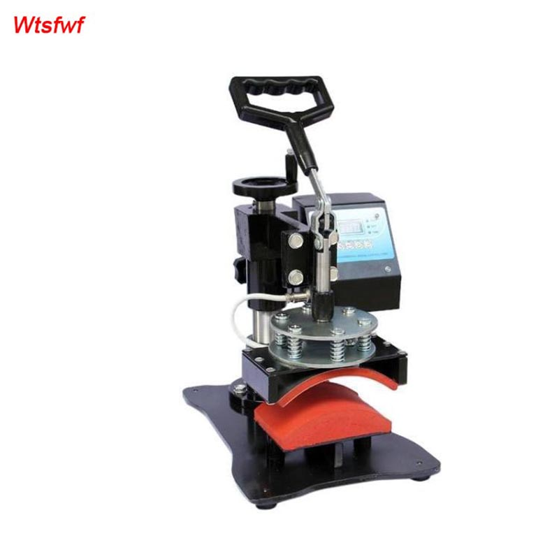 Wtsfwf Portable Digital Cap Heat Press Printer Hat Sublimation Transfer Printer Machine Cap Printer Machine wtsfwf 30 38cm 8 in 1 combo heat press printer machine 2d thermal transfer printer for cap mug plate t shirts printing