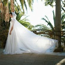 عباءة زفاف بيضاء عاجية شيفون (بوليستر) كيب مع غطاء محرك السيارة في القرون الوسطى رأس الزفاف