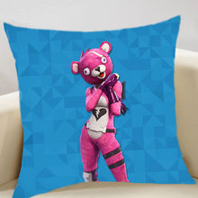 ZSQH Fortnight 35cm square embrace pillow fortnited Battle Royale Cosplay Costume bath towel for kids children Sofa cushion(China)