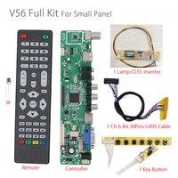 V56 Universel LCD TV Contrôleur Pilote Conseil PC/VGA/HDMI/USB Interface + 7 + clavier rétro-éclairage onduleur + 1ch 6-bit 30pin lvds V29