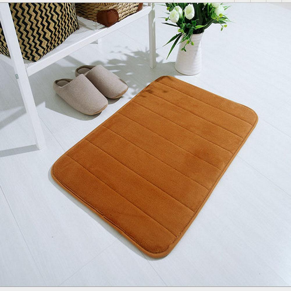 Tapis Salle De Bain Kaki ~ kaki 1x nouveau velours tissu m moire mousse tapis de bain salle de