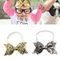 Kids Baby Girls Glitter Sequins Bowknot Hairband Stretchable Headband Band Baby Girls Headband Accessories