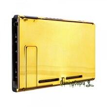 Custodia protettiva per custodia di ricambio fai da te per Console posteriore in oro cromato personalizzato per Console Nintendo Switch con cavalletto