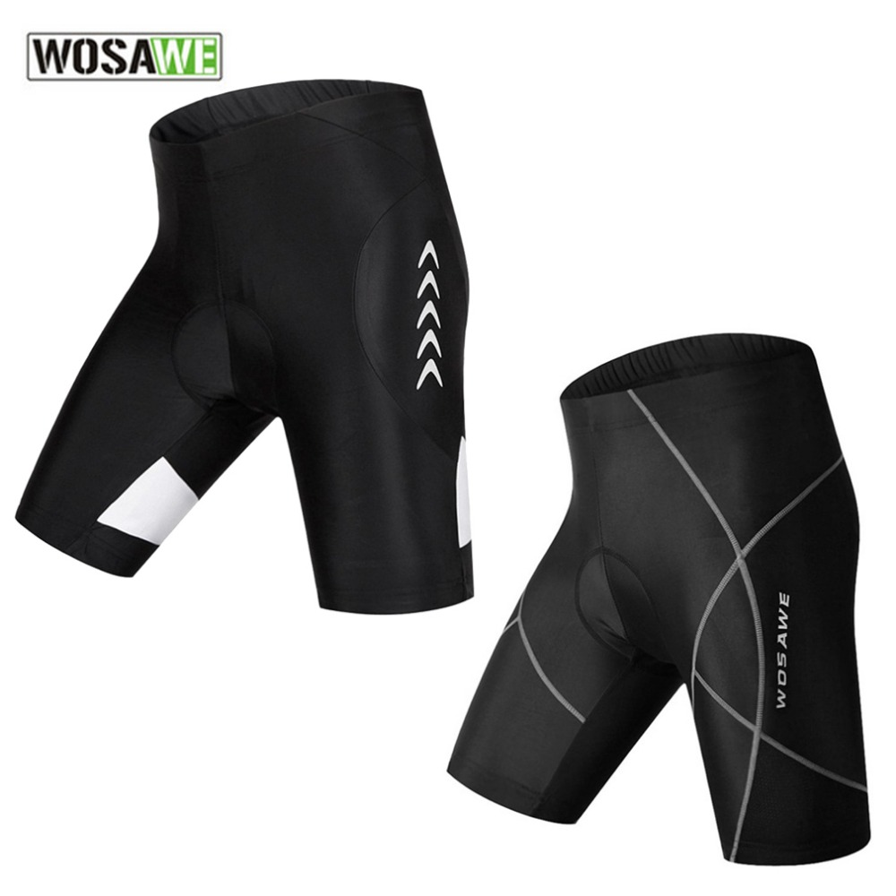 WOSAWE Professional Breathable Cycling Shorts Compression Quick Dry Silicone Padded Knee Length Shorts Leggings for Bicycle bike