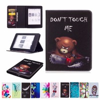2017 Hot Sale For Amazon Kindle Paperwhite 6 Cover Flip PU Leather Painting Case Book Stand