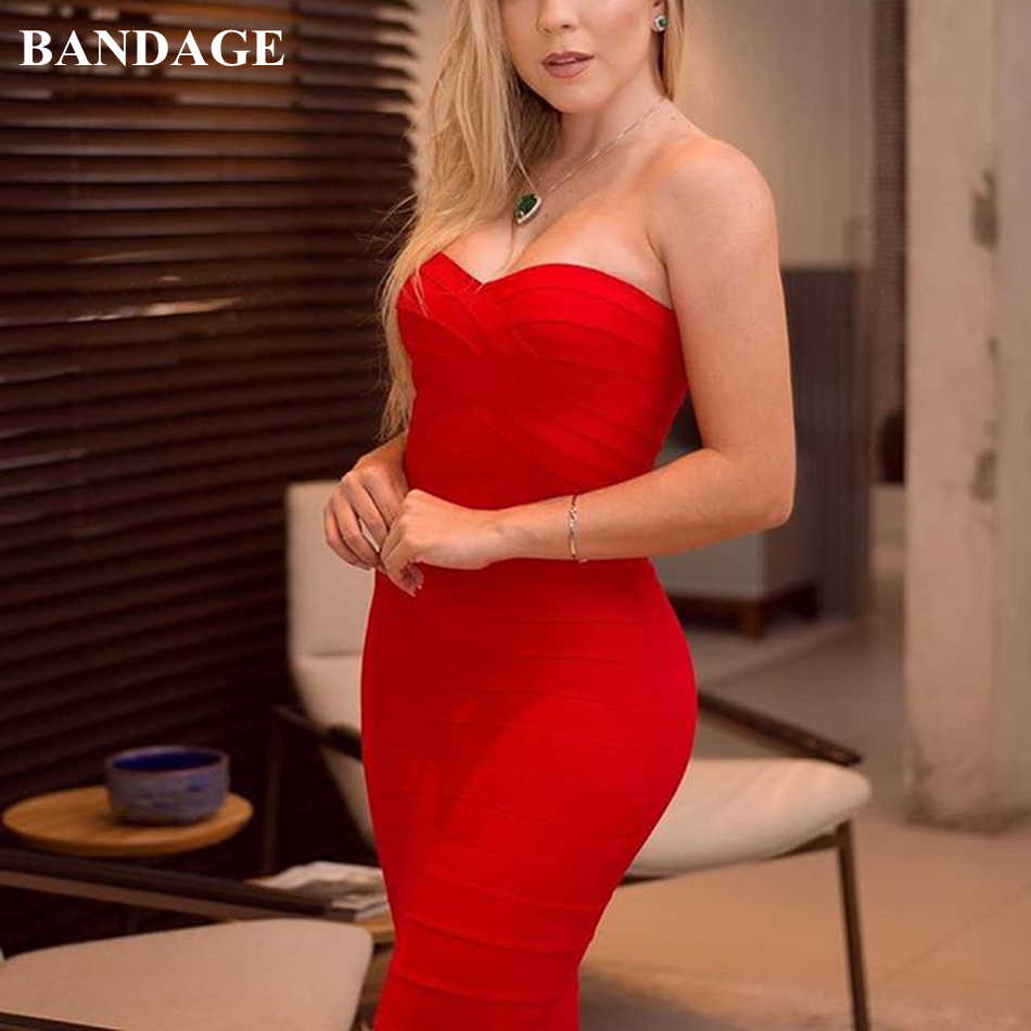Красное сексуальное платье без бретелек, мини-повязка, облегающее платье для вечеринки, облегающее платье Vestido, облегающее платье-труба, Leger Babe De Festa Longo