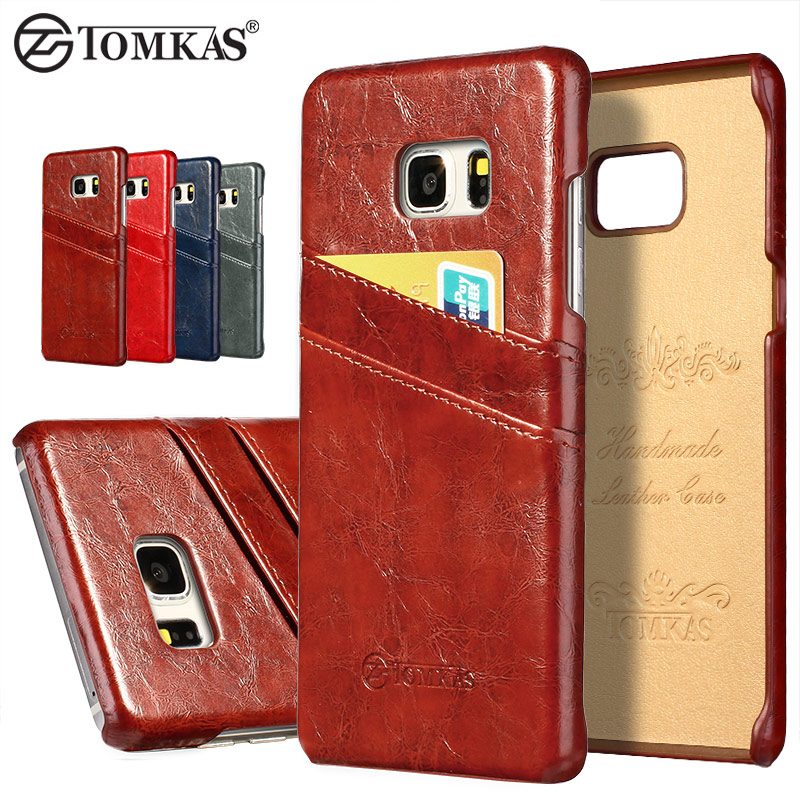 Case For Samsung Galaxy Note 7 Coque Wax PU Leather With Card Holder Back Cover For Samsung Galaxy Note 7 Phone Bag Cases TOMKAS