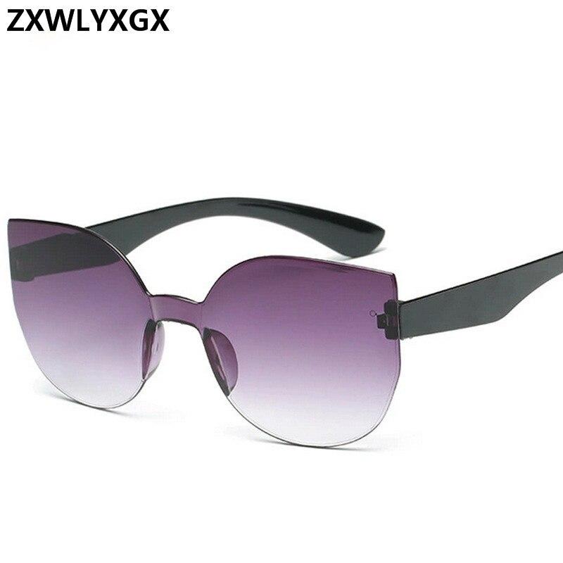 ZXWLYXGX Brand design fashion cat eye sunglasses men women retro colorful gradient sun glasses trend oculos feminino