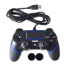 Brand New Wired Gamepad For Playstation Dualshock 4 Joystick Gamepads Multiple Vibration 1.8M Cable For PS4 Console
