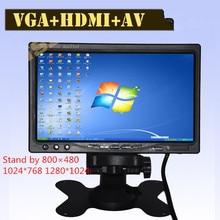 Super HD LCD 7 pouces moniteur avec VGA + AV + HDMI Ultra haute luminosité jusqu'à 1024*600 moniteur de voiture d'affichage Famille et utilisation de la voiture