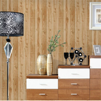 beibehang Chinese Style Retro Wooden Board PVC Wallpaper Garment Shop Cafe Study Room Living Room Wallpaper