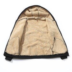 Image 2 - Grandwish נים גברים סלעית מקרית צמר החורף לעבות חם מעיל זכר קטיפה זכר חולצות מעיל רוכסן ברדס מעילים, DA943
