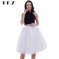 FKZ Weeding Tutu Skirts Womens 5 Layers 65cm Lace Female Elastic Belt Adult Bridesmaids Ball Gown Petticoat Tulle Skirt SKQ089