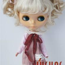 JD011 9-10 дюймов(23-25 см) очаровательные кудрявые BJD кукольные парики Blyth синтетический мохер кукольные волосы большой размер кукольные аксессуары