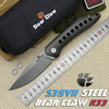 BEAR CLAW XL R33 Camping Pocket Knives Hunting Flipper Folding Knife S35VN Blade Titanium Handle Outdoor