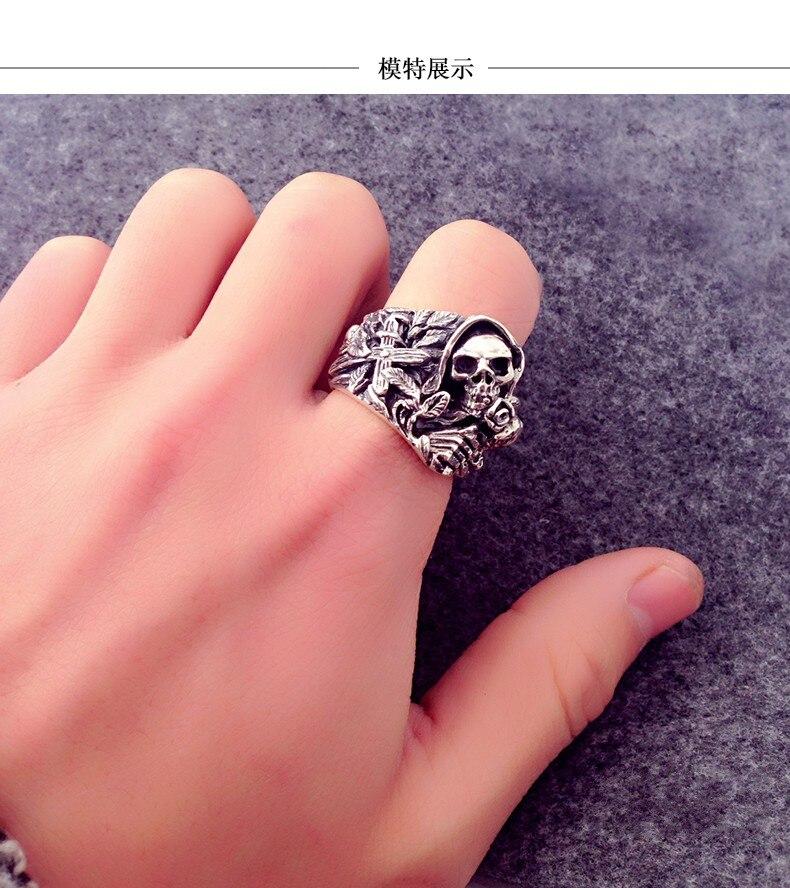 925 стерлингового серебра подлинные восточные вибрации новое кольцо с драконом - 4