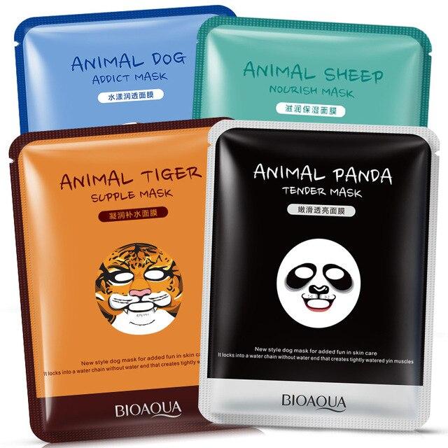 Животных маска глубоко увлажняющий лист Масляная маска Управление осветляет кожу маска для женщин панда Тигр BIOAQUA Корейская маска для лица