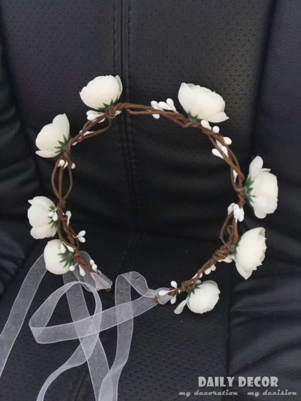New 2016 white bridal Wedding Hair Accessories Wreath Tiaras Flower Headband Women Crown Bridal Hairbands Guirnalda Grinalda