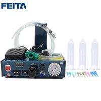 FEITA 983 Liquid Anaerobic Adhesive Glue Dispenser Automatic Fluid Syringe Dropper Dispensing Machine with Foot Pedal