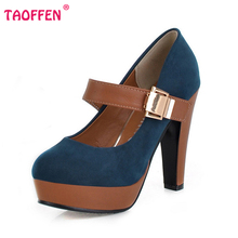 free shipping thick high heel shoes buckle women sexy fashion lady platform pumps P2583 hot sale