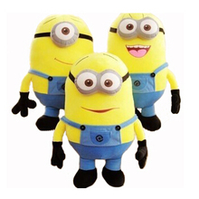 18CM 3 Styles Soft Stuffed Plush Toys Baby Toy Despicable Me Movie Minions Birthday Gift for