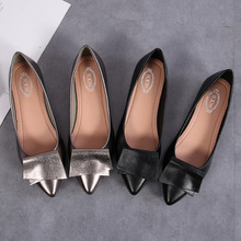 Luxury 2019 Women Flats Shoes Ballet Flat Fashion Casual Shoes Woman Low-cut Shallow Pointed Toe Slip-On Work Shoes High Quality