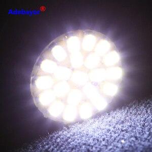 Image 1 - 100 個 1156 P21W BA15S 13014 22SMD led電球バックアップリバースライト使用ブレーキライトテールライトrvライト白アデバヨール