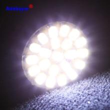 100 Uds 1156 P21W BA15S 13014 22SMD bombillas LED se utiliza para volver de luz de marcha atrás, freno luces de cola luces RV blanco adebayor