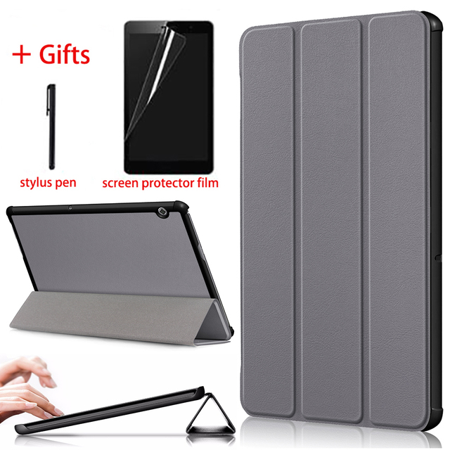 "Slim PU Leather Case For Huawei MediaPad T5 10 AGS2 W09/L09/L03/W19 10.1"" Stand Tablet Cover Funda For Huawei Media Pad T5 Case"